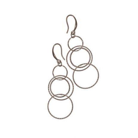Hot Tomato Jewellery Silver Hoop Cascade Earrings - EOL