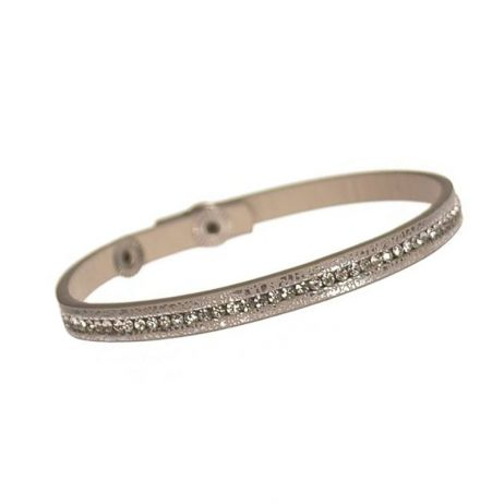 Hot Tomato Jewellery Sparklet Silver and Grey Wrap Bracelet