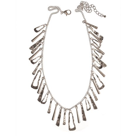 Hot Tomato Jewellery Silver Statement Necklace - eol