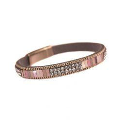 Hot Tomato Jewellery Pink Mosaic Stripe Pink Bracelet
