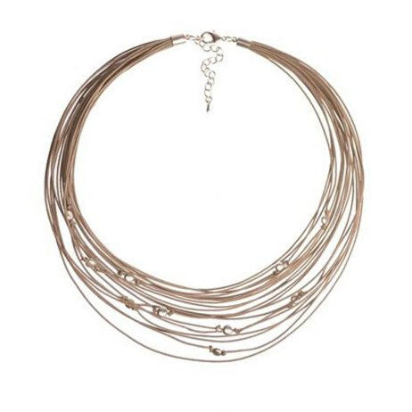 Hot Tomato Jewellery Nude and Silver Multi Strand Necklace