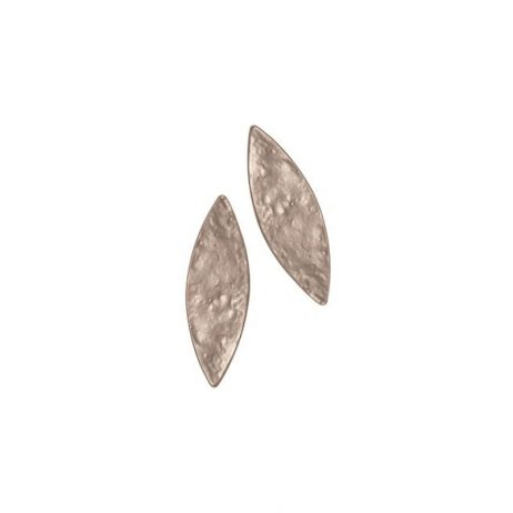 Hot Tomato Jewellery Matt Silver Ellipse Stud Earrings