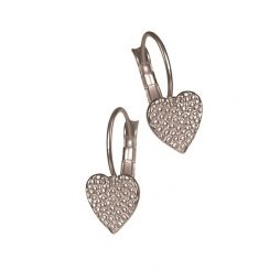 Hot Tomato Jewellery Silver Hearts on French Hook Earrings