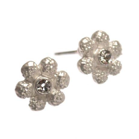 Hot Tomato Jewellery Silver Daisy Stud Earrings - eol