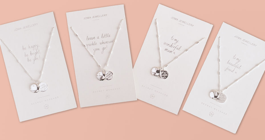 Joma Jewellery Secret Message Necklaces and Bangles
