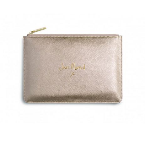 Katie Loxton Perfect Pouch Just Married Metallic Gold