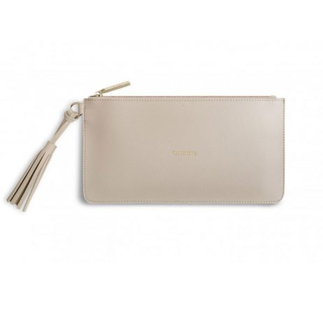 Katie Loxton Florrie Tassel Pouch Oh So Chic Grey