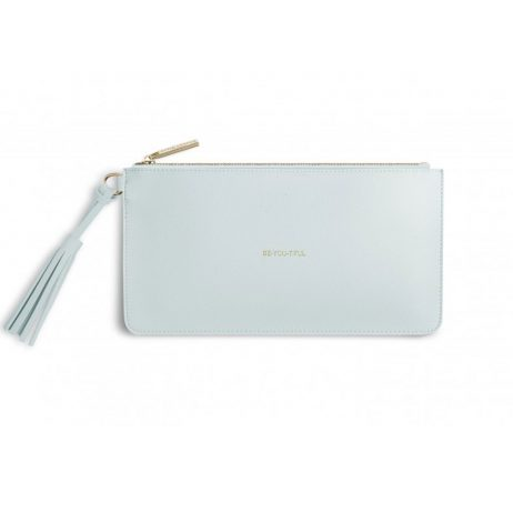 Katie Loxton Florrie Tassel Pouch Bee - You - Tiful Powder Blue