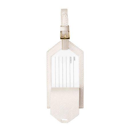 Katie Loxton Luggage Tag Just Married Metallic White
