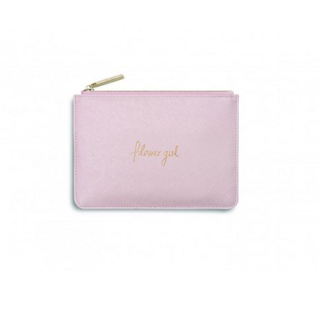 Katie Loxton Mini Perfect Pouch Flower Girl Metallic Pink