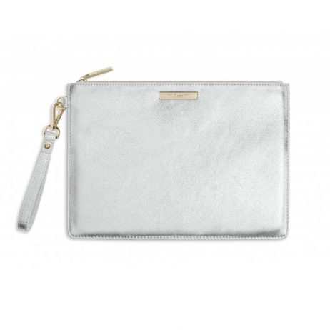 Katie Loxton Luxe Clutch Bag Metallic Silver EOL