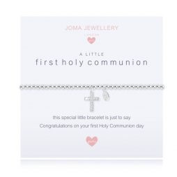 Joma Jewellery Childrens A Little First Holy Communion Silver Bracelet C404