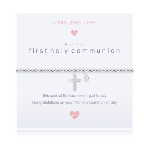 Joma Jewellery Girls A Little First Holy Communion Silver Bracelet C404