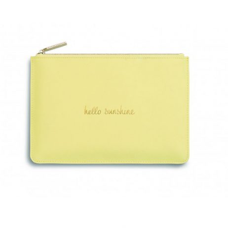 Katie Loxton Perfect Pouch Hello Sunshine Pale Yellow - EOL