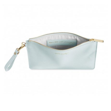 Katie Loxton Secret Message Pouch Sparkle Everyday Pale Blue