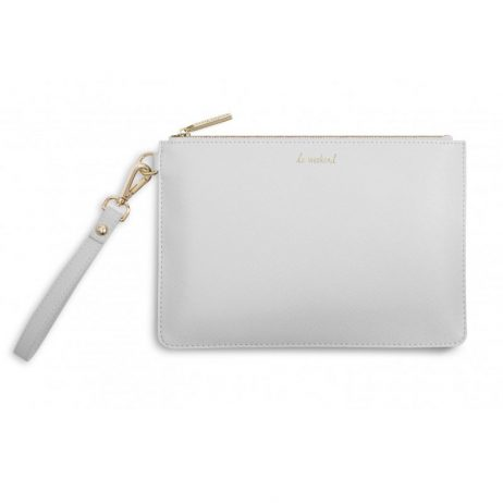 Katie Loxton Secret Message Pouch Le Weekend Grey