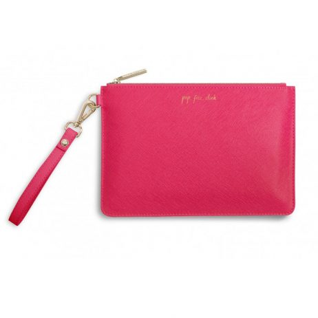 Katie Loxton Secret Message Pouch Pop Fizz Clink Pink