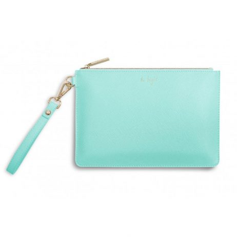 Katie Loxton Secret Message Pouch Be Bright Be Happy Be You Mint