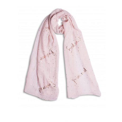 Katie Loxton Bridesmaid Scarf Blush Pink