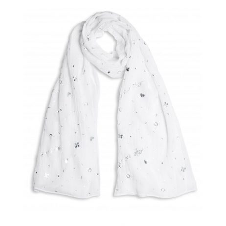 Katie Loxton Happy Ever After Scarf White