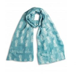 Katie Loxton Tropical Pineapple Scarf Turquoise