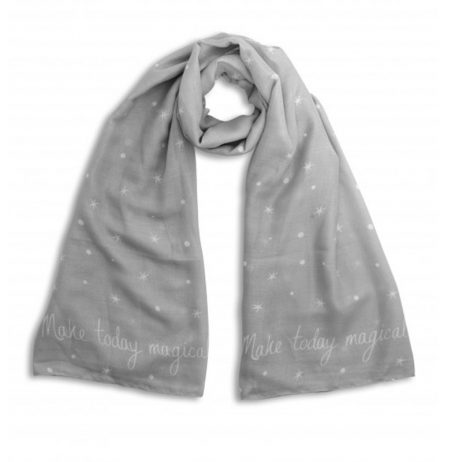 Katie Loxton Make Today Magical Stars Scarf Pale Grey