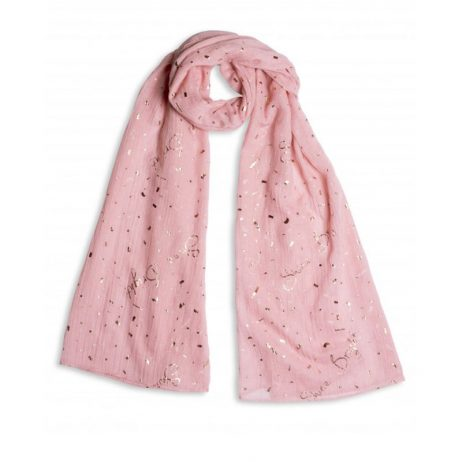 Katie Loxton Shine Bright Scarf Pale Pink