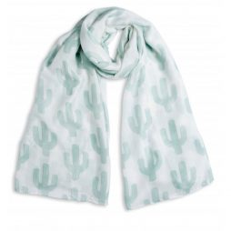 Katie Loxton Can't Touch This Cactus Scarf White and Green KLS087