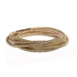 Hot Tomato Jewellery Cable Triple Wrap Gold Bracelet