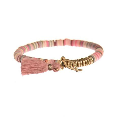 Hot Tomato Jewellery In The Pink Tassel Bracelet