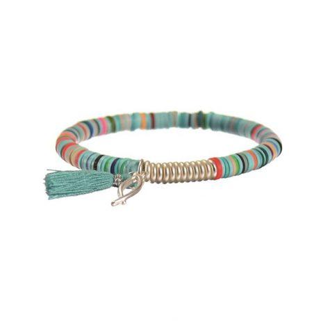Hot Tomato Jewellery Into The Blue Tassel Bracelet