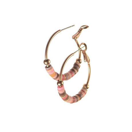 Hot Tomato Jewellery In The Pink Hoop Earrings