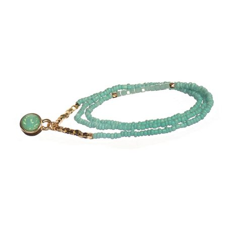 Hot Tomato Jewellery Aqua Crystal 2 in 1 Bracelet and Necklace - EOL