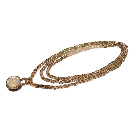 Hot Tomato Jewellery Gold Crystal 2 in 1 Bracelet and Necklace - EOL