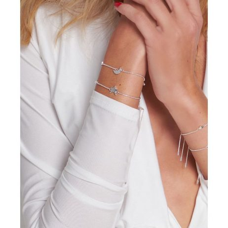 Joma Jewellery Mini Message Shine Silver Chain with Star Bracelet