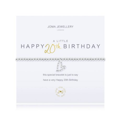 Joma Jewellery A Little Happy 20th Birthday Bracelet 2671