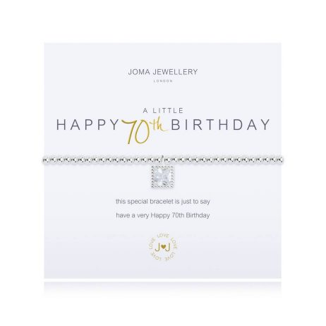 Joma Jewellery a little Happy 70th Birthday Silver Bracelet 2672