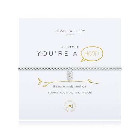 Joma Jewellery A Little You're a Hoot Silver Bracelet 2684