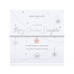 Joma Jewellery A Little Merry Christmas Daughter Bracelet 2711