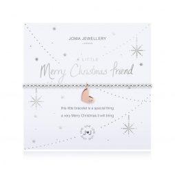 Joma Jewellery A Little Merry Christmas Friend Silver Bracelet 2712