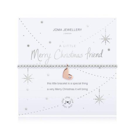 Joma Jewellery A Little Merry Christmas Friend Bracelet 2712 - EOL