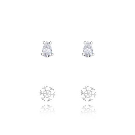 Joma Jewellery Merry Christmas Set Of Two Baubles Earrings 2742 - EOL