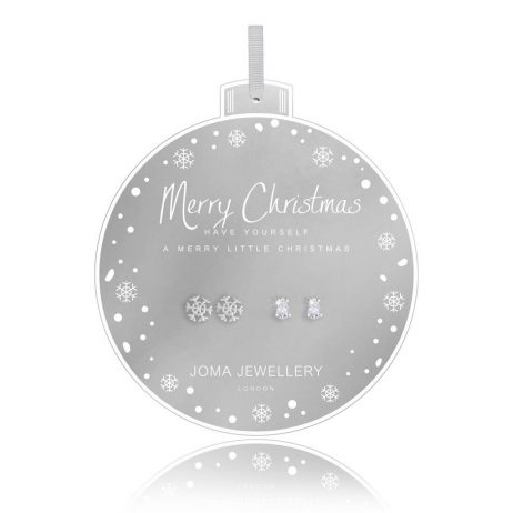 Joma Jewellery Merry Christmas Set Of Two Baubles Earrings 2742