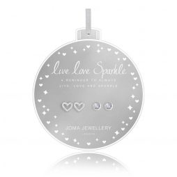 Joma Jewellery Live Love Sparkle Set Of Two Baubles Earrings 2744