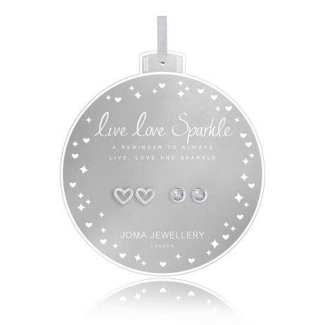 Joma Jewellery Live Love Sparkle Set Of Two Baubles Earrings 2744 - EOL