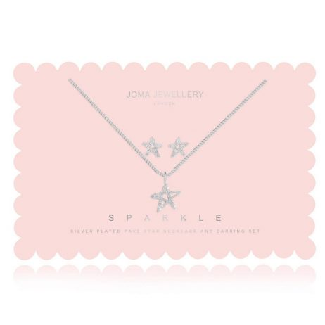 Joma Jewellery Sparkle Sentiment Set Star Pave Earring And Necklace 2754