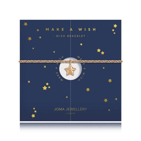 Joma Jewellery Wishing Bracelet Make A Wish Gold 2776 - EOL