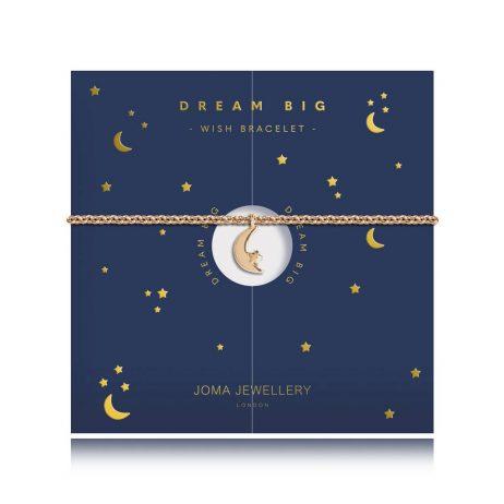Joma Jewellery Wishing Bracelet Dream Big Moon Gold Bracelet 2778