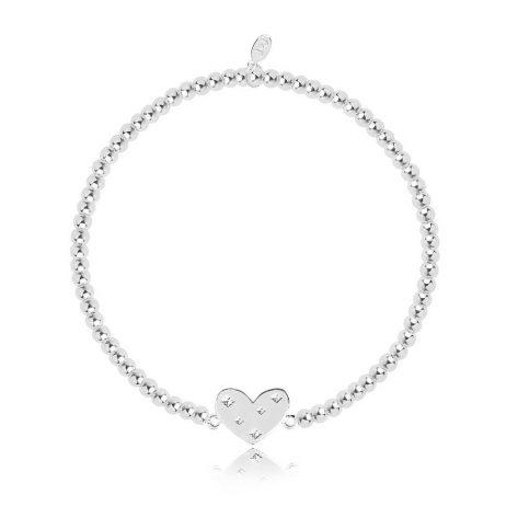 Joma Jewellery Christmas Cracker Sparkle Shimmer Shine Heart Bracelet 2795
