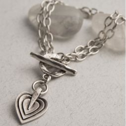 Danon Jewellery Layers Of Love Double Silver Bracelet *